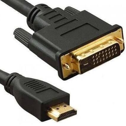 Cabo HDMI Macho x DVI 24+1 Macho  de 1,50 Metros com Filtro