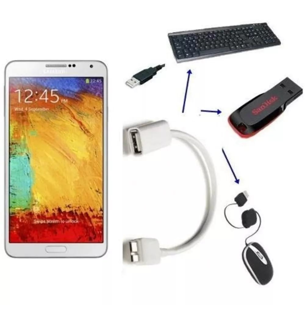 Cabo OTG para Galaxy Note 3 S5 Lenovo Thinkpad 8 USB 3.0 Macho x USB Fêmea