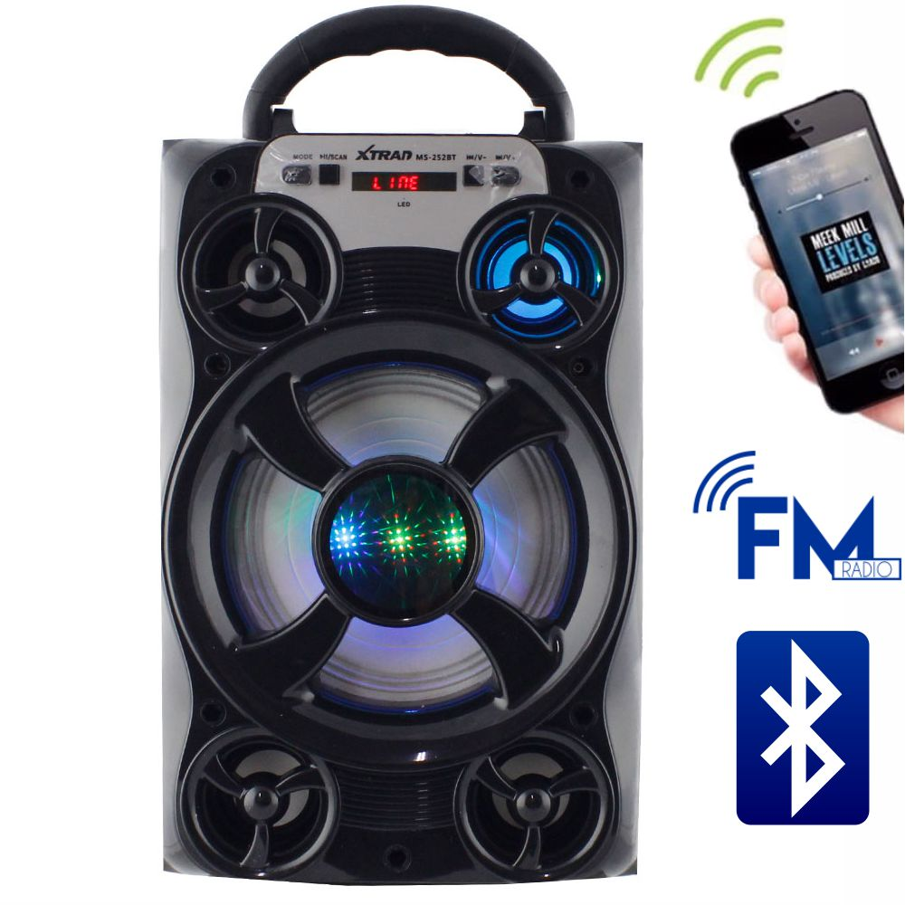 Caixa de Som 20 Watts Rms Bluetooth Bateria/Radio/SD/USB MS-252BT