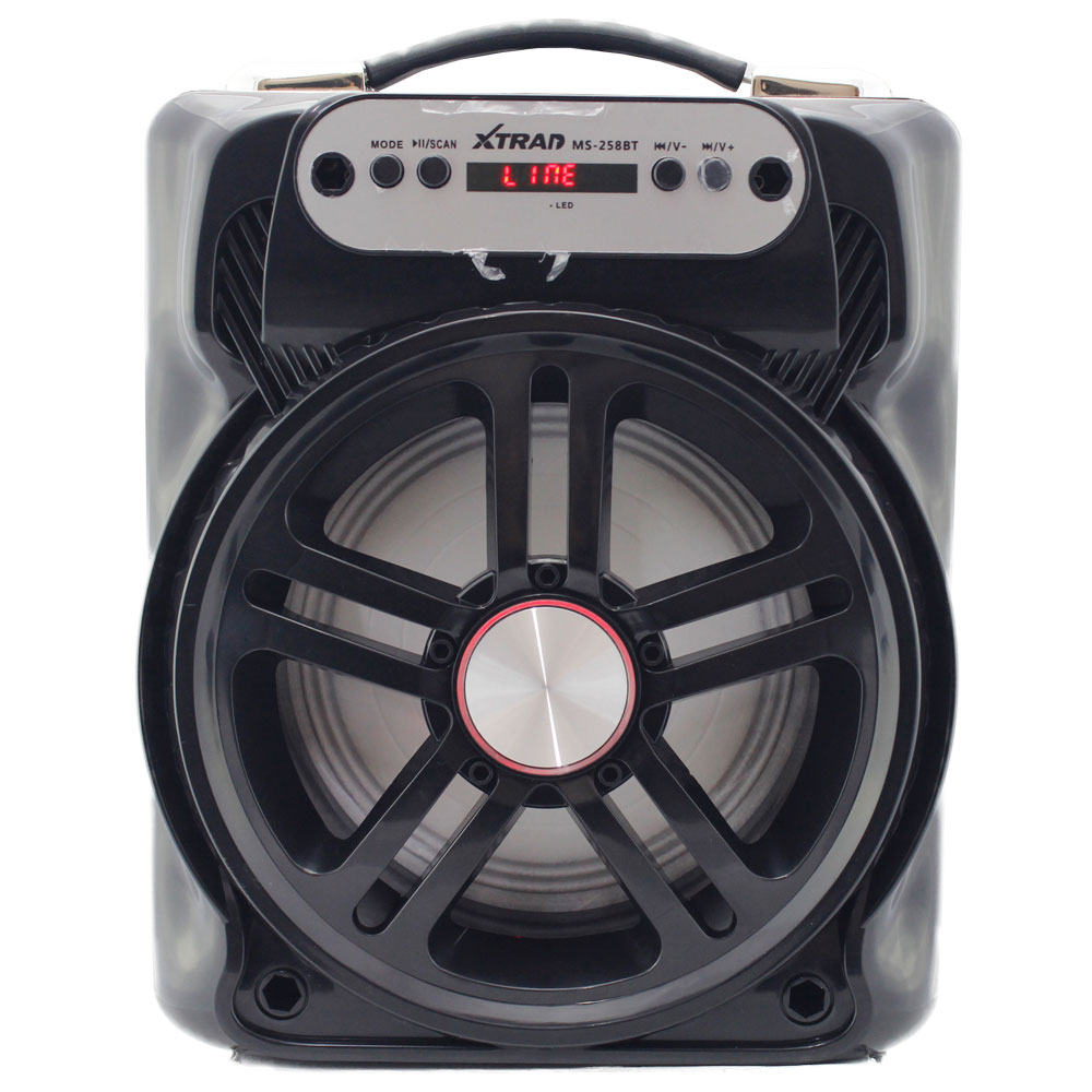 Caixa de Som 20 Watts Rms Bluetooth Bateria/Radio/SD/USB MS-258BT