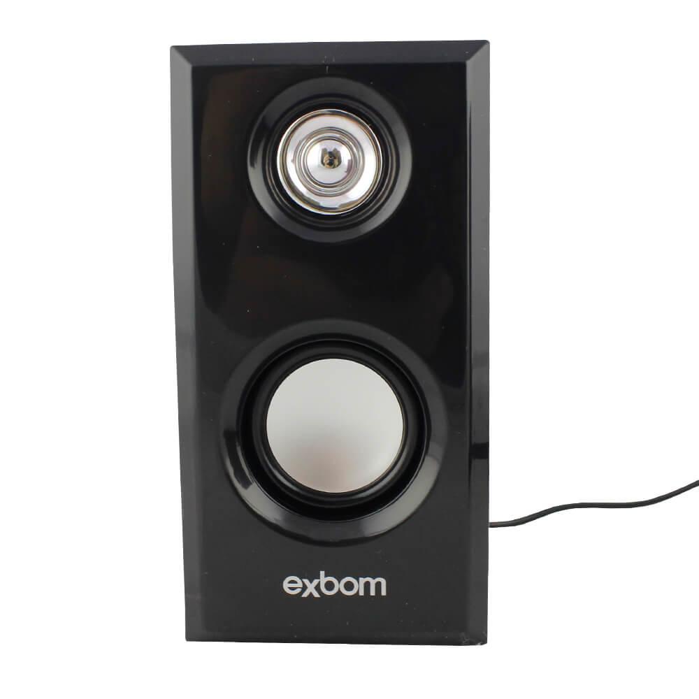 Caixa de Som 2.0 6 Watts Rms em Maderia Exbom CS-56