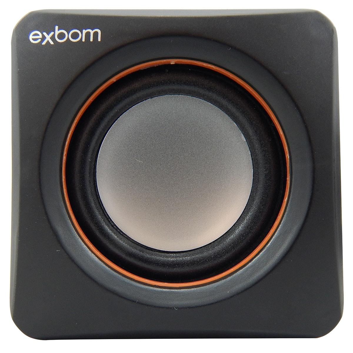 Caixa De Som 2.0 Preta Exbom CS-39