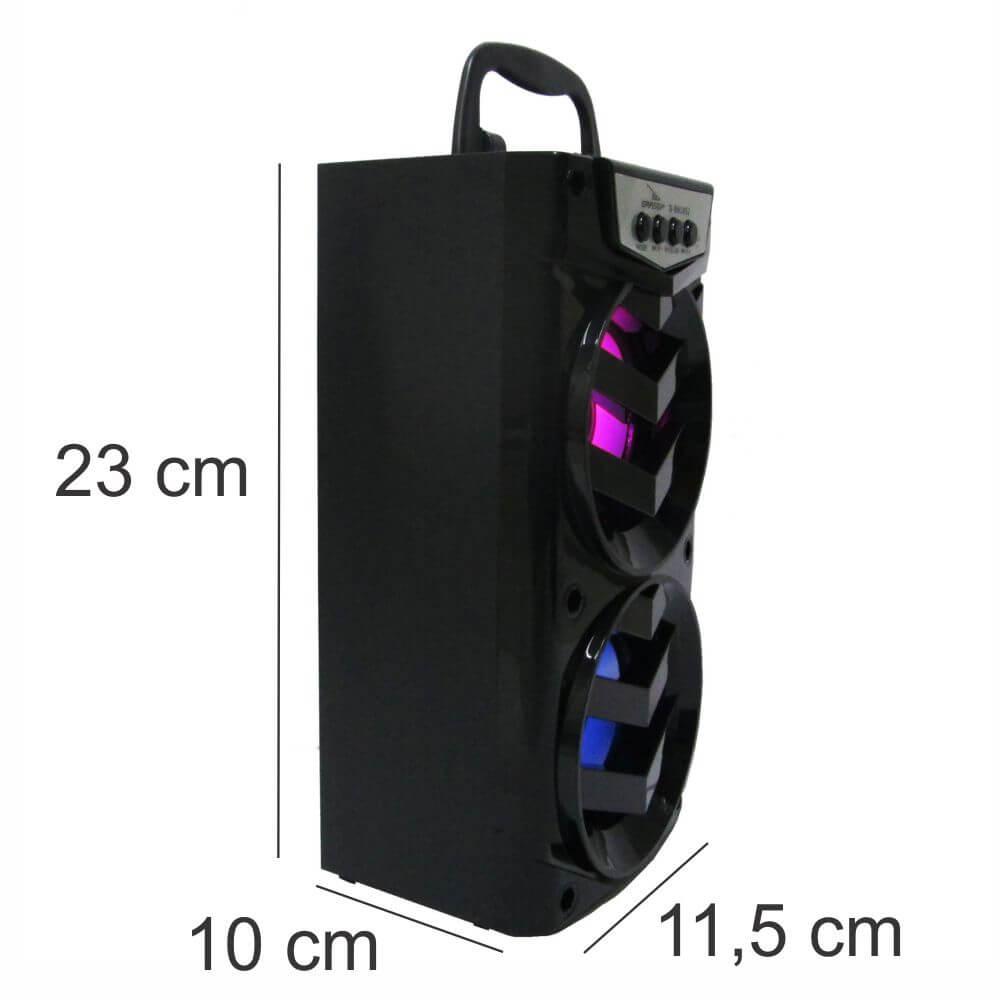Caixa de Som 8 Watts Rms Bluetooth Bateria/Radio/SD/USB Grasep D-BH1052