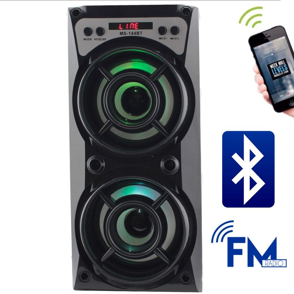 Caixa de Som 8 Watts Rms Bluetooth Bateria/Radio/SD/USB MS-144BT