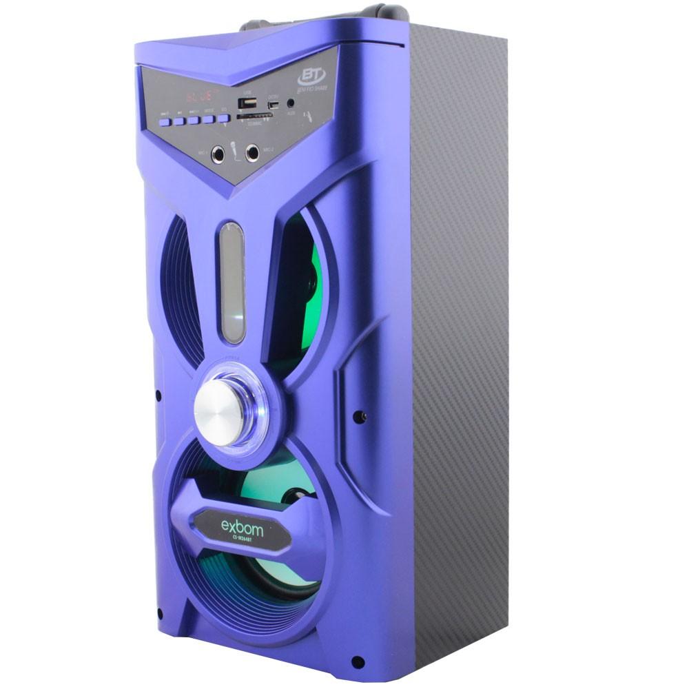 Caixa de Som Bluetooth 12 Watts Rms Exbom CS-M264BT c/ Visor SD/USB/FM