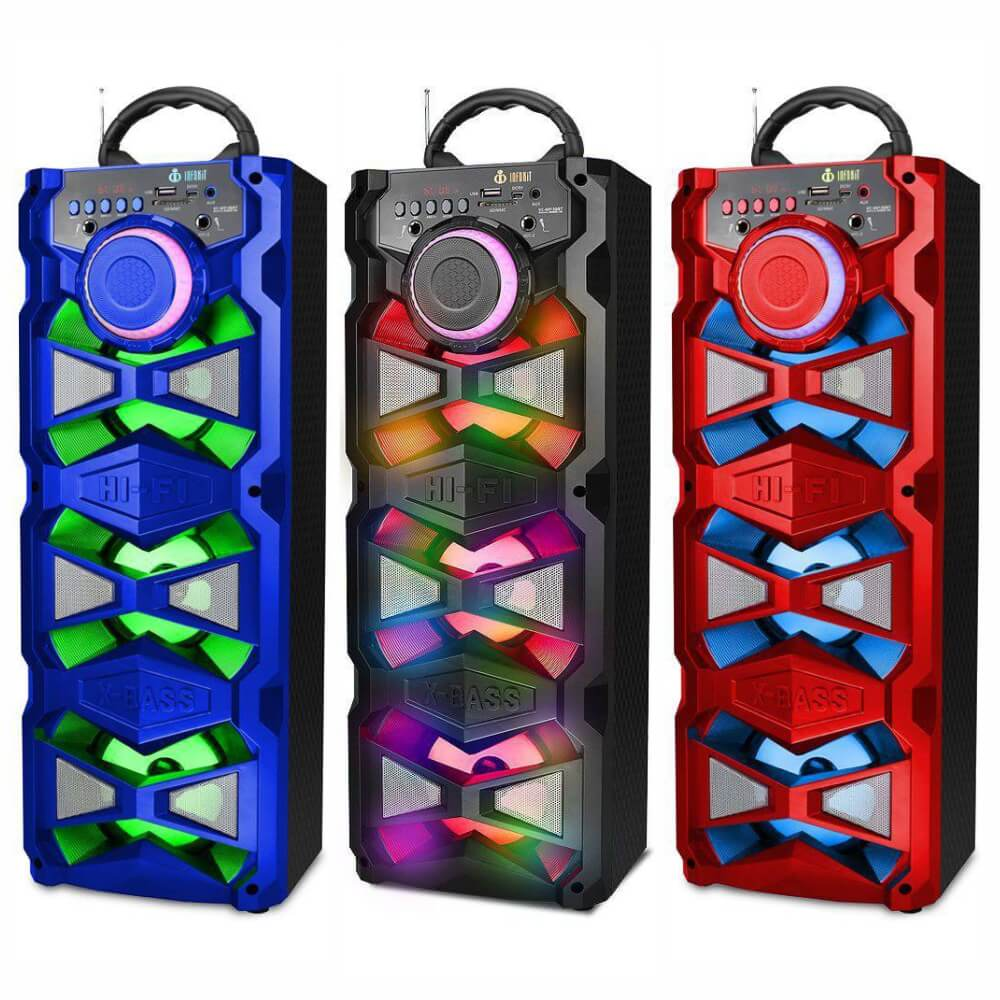 Caixa de Som Bluetooth 18 Watts Rms Infokit VC-M915QBT c/ Visor SD/USB/FM e Microfone