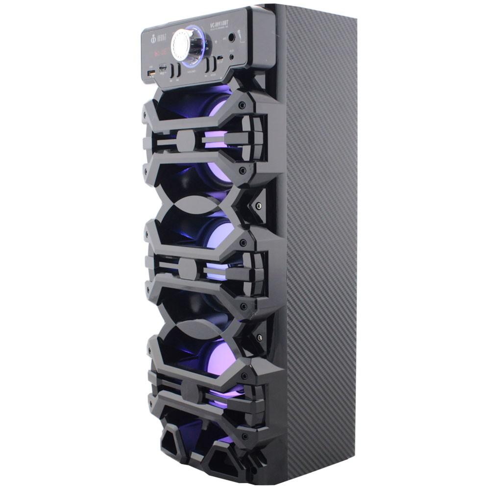 Caixa de Som Bluetooth 18 Watts Rms Infokit VC-M910BT com VISOR SD/USB/FM e Microfone
