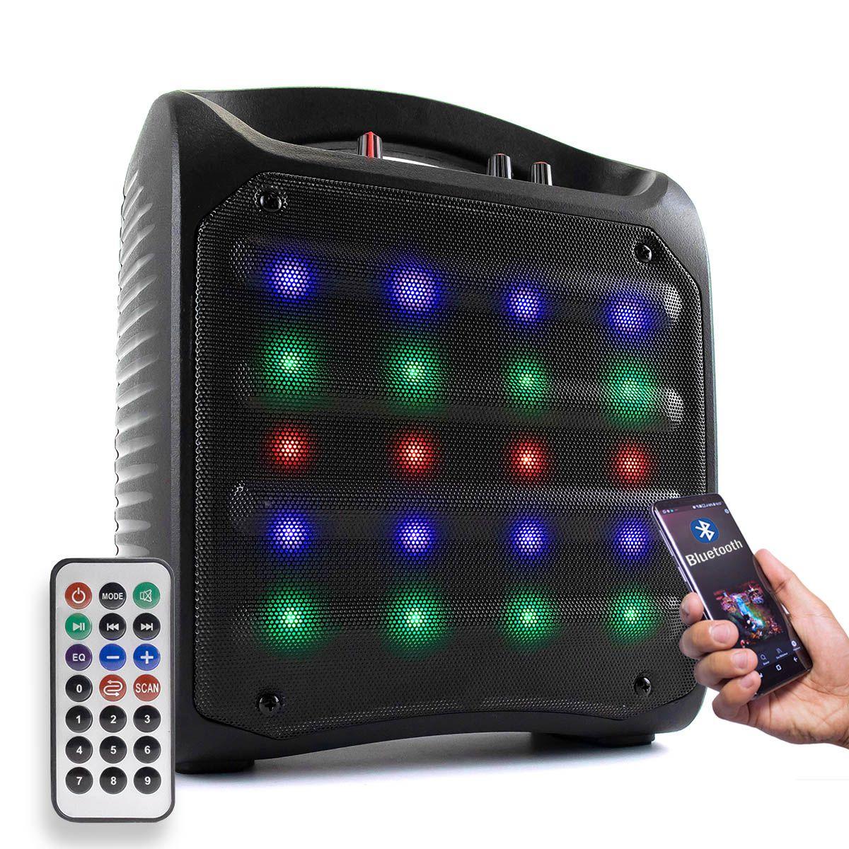 Caixa de Som Bluetooth 25 Watts RMS com Controle Remoto Grasep D-Q9