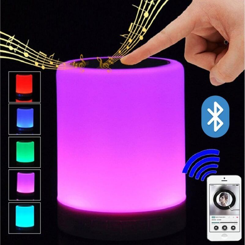 Caixa de Som Bluetooth Luminária Led Xtrad WS-1607