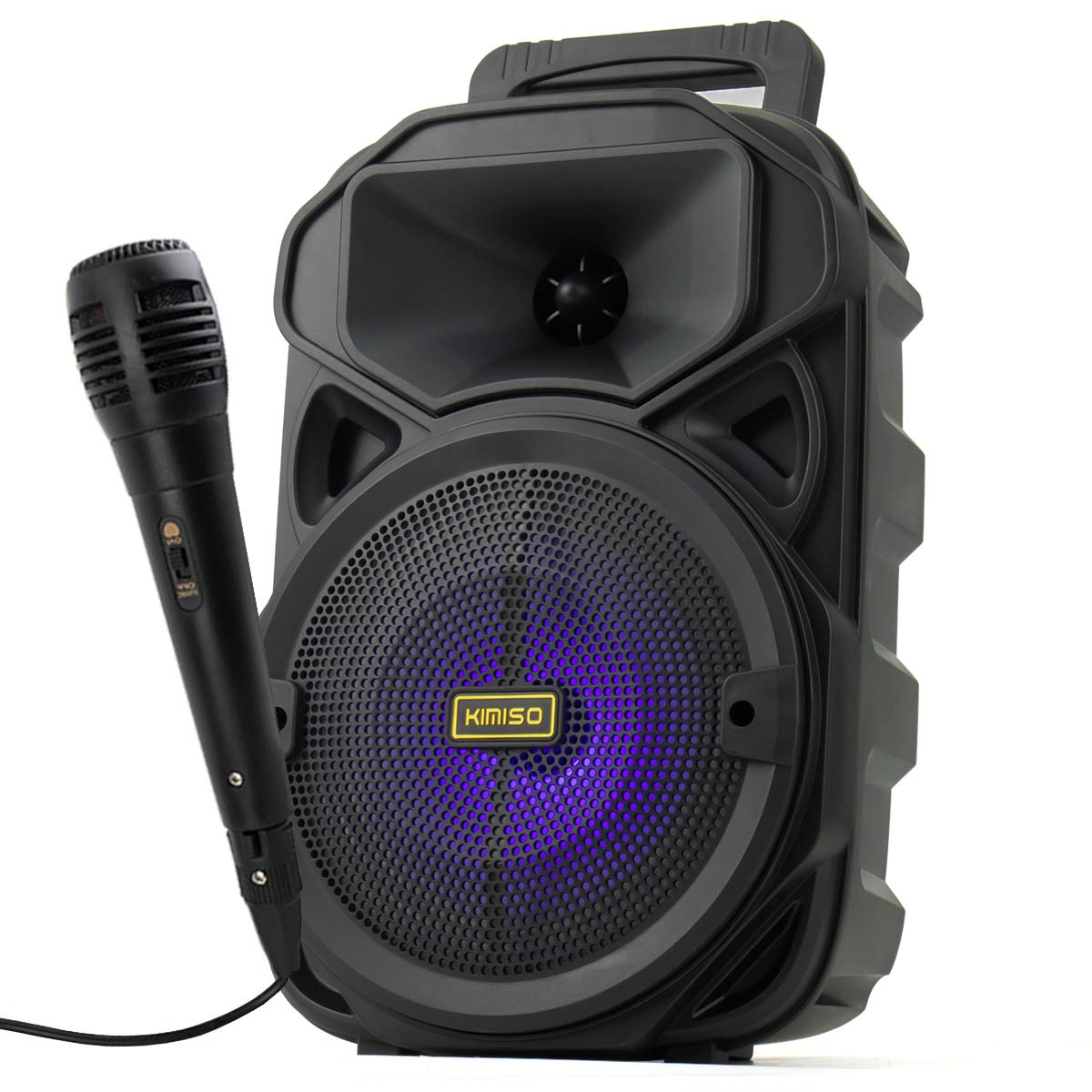 Caixa de Som Bluetooth Portátil 1200 Watts PMPO com Microfone Kimiso KMS-3382