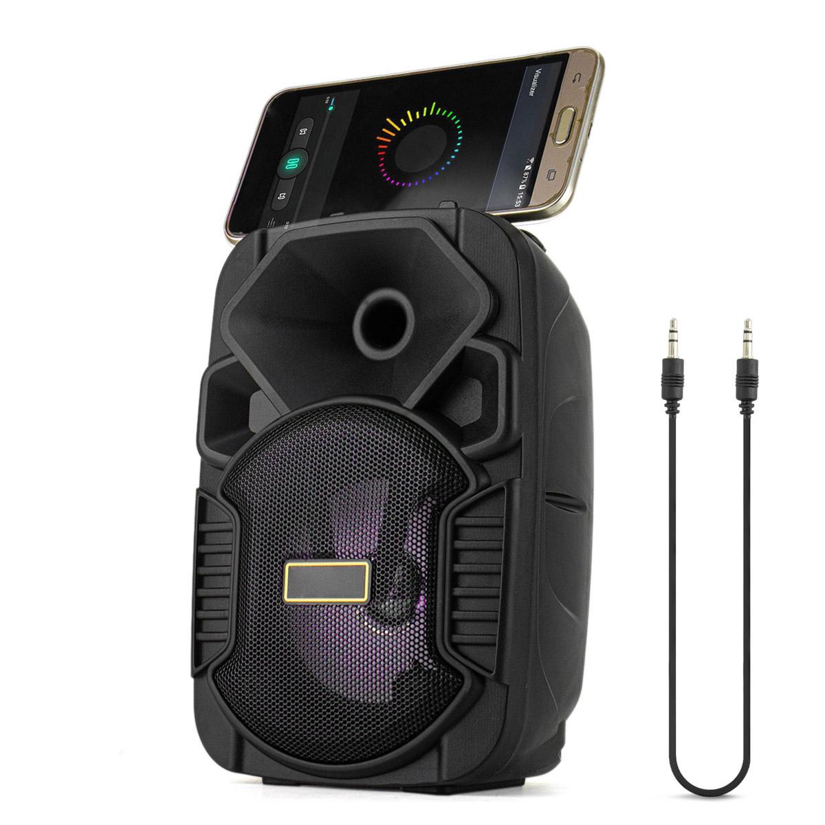 Caixa de Som Bluetooth Portátil 5 Watts RMS com Cabo Auxiliar P2 Entrada USB Micro SD XTrad XDG-54