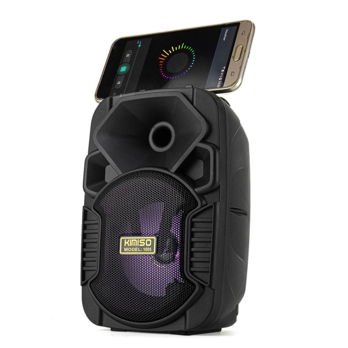 Caixa de Som Bluetooth Portátil 5 Watts RMS com Entrada USB Micro SD P2 Kimiso KMS-1005