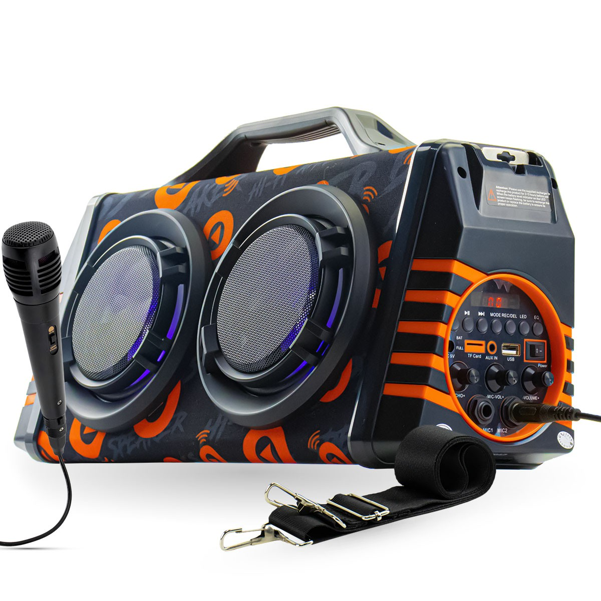 Caixa de Som Bluetooth Portátil 60 Watts RMS com Microfone Xtrad XDG-37
