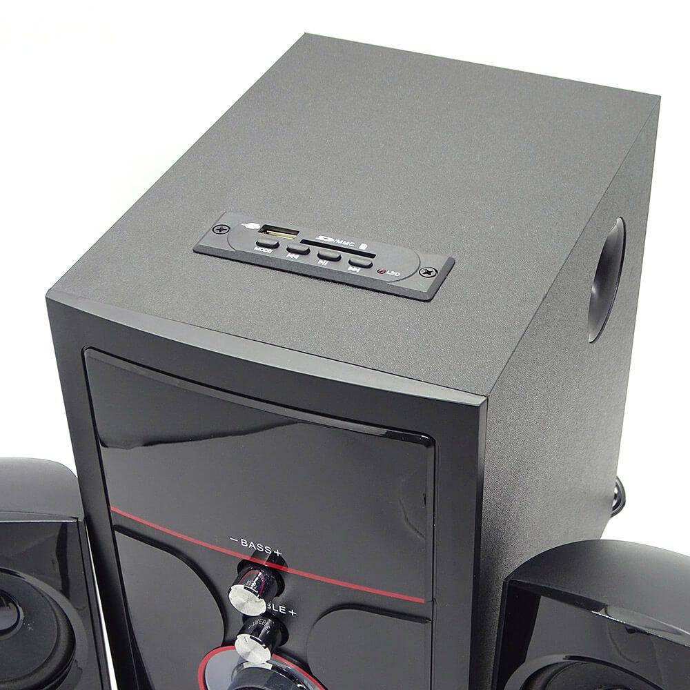 Caixa de Som com Subwoofer 2.1 14 Watts Rms Usb/SD/Aux Knup KP-6002