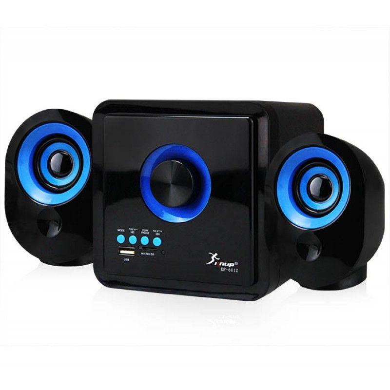 Caixa de Som com Subwoofer 2.1 16 Watts Rms Usb/SD/Bluetooth Knup KP-6012