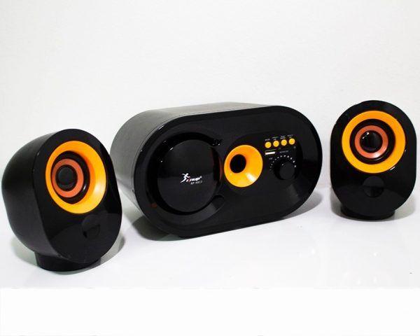 Caixa de Som com Subwoofer 2.1 16 Watts Rms Usb/SD/Bluetooth Knup KP-6013