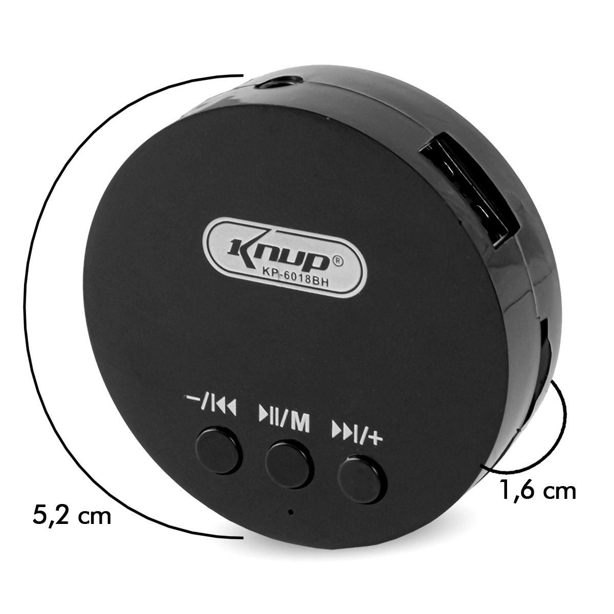 Caixa de Som para PC com Subwoofer e Bluetooth Knup KP-6018BH