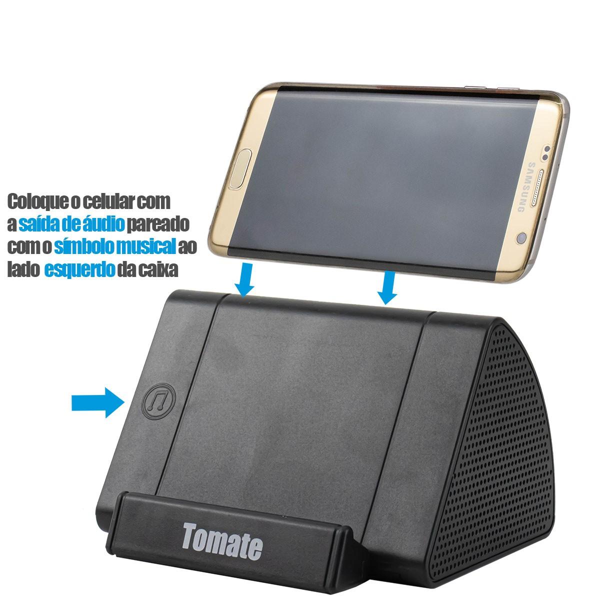 Caixa de Som Portátil Sem Fio Para Celular Por Indução 3W Tomate MTS-8811