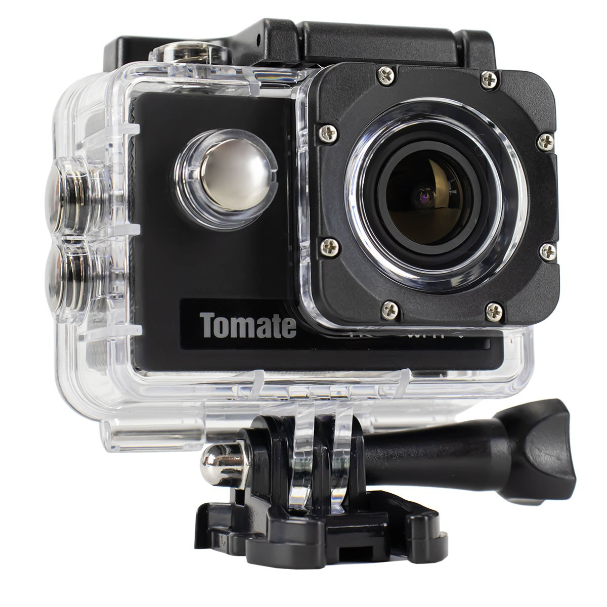 Câmera de Vídeo Profissional de Ação HD 4K, Wi-Fi e Case à Prova D'Água Tomate MT-1091K