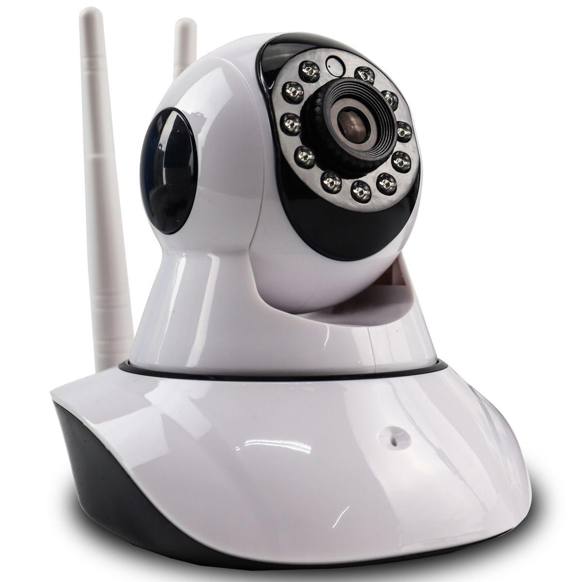 Câmera IP Digital 2.0MP com Dois Receptores de Wifi e Visão Noturna HD 1920x1080 Q5