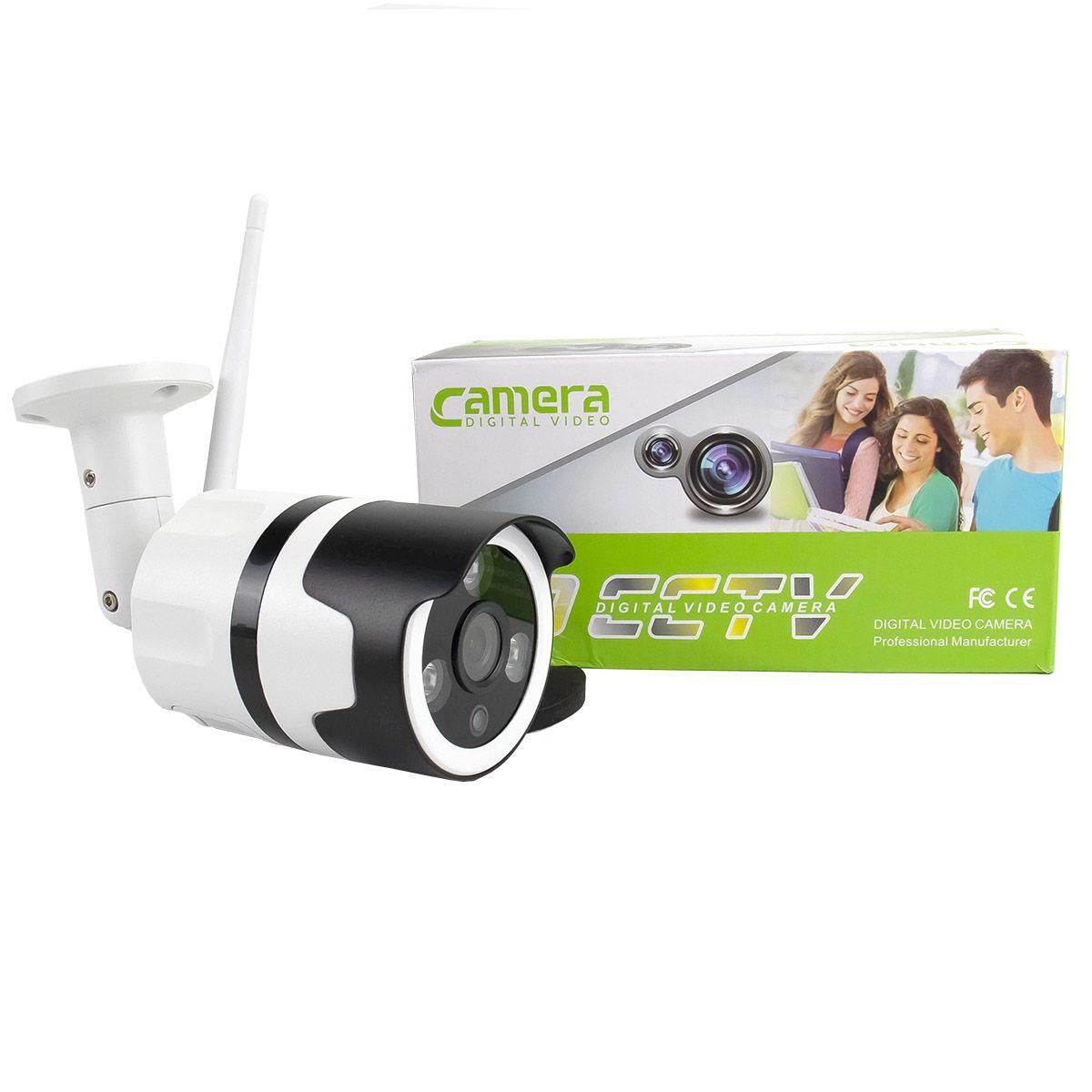 Câmera IP Digital Externa HD à Prova D'água com Visão Noturna 1920x1080 1.8MP-1F 3.6mm Lente XA-N632