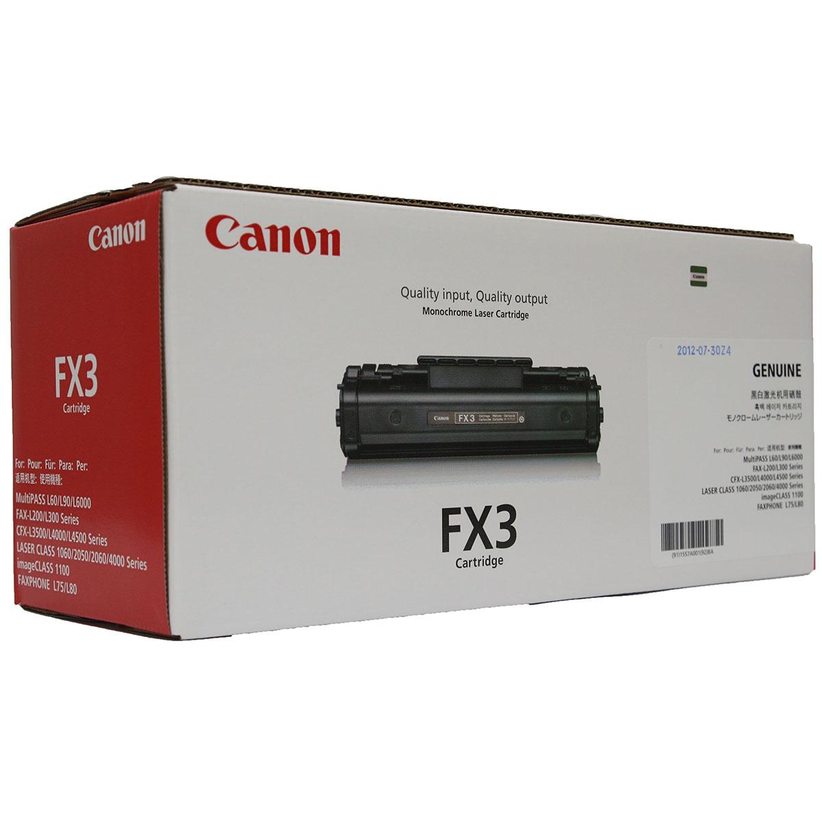 Cartucho Toner Canon FX3 Preto Original Novo