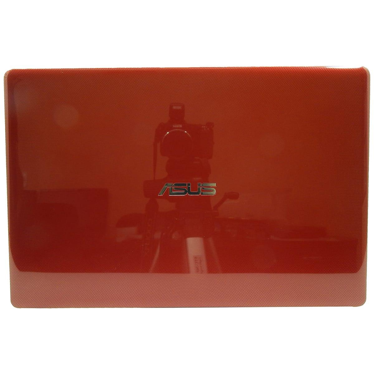 Carcaça Tampa da Tela c/ Moldura e Dobradiças p/ Notebook ASUS X450 Vermelha - Nova