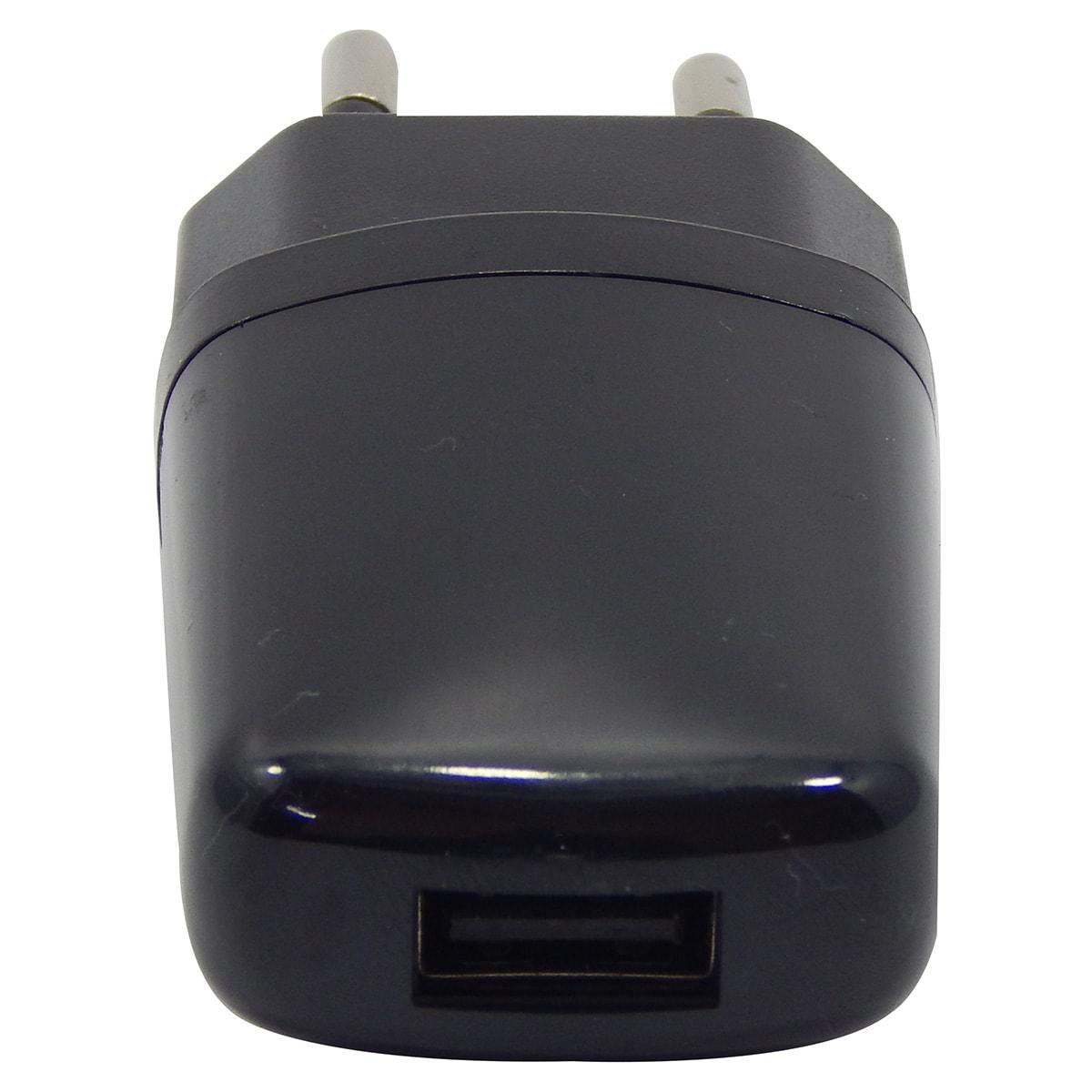 Carregador de Tomada com 1 USB 1A Bivolt