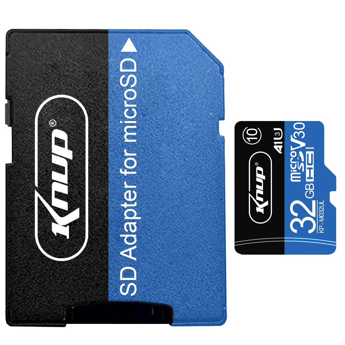 Cartão de Memória 32GB Micro SD Classe 10 com Adaptador para SD Knup KP-M032UL