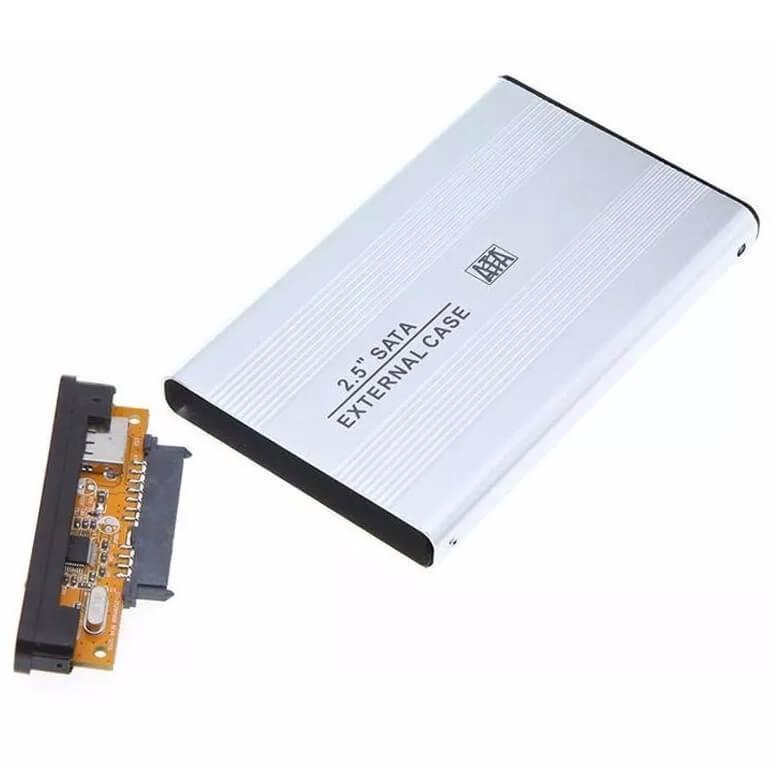 Case USB 2.0 p/ HD de 2,5