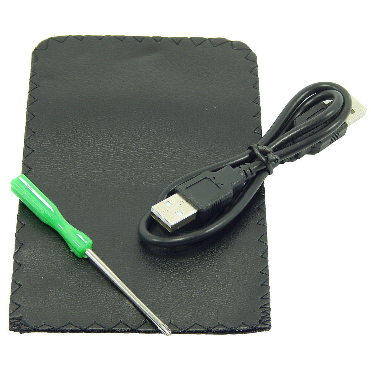 "Case USB 2.0 para HD Sata de 2,5"" (HD de Notebook) em Alumínio Exbom CGHD-10"