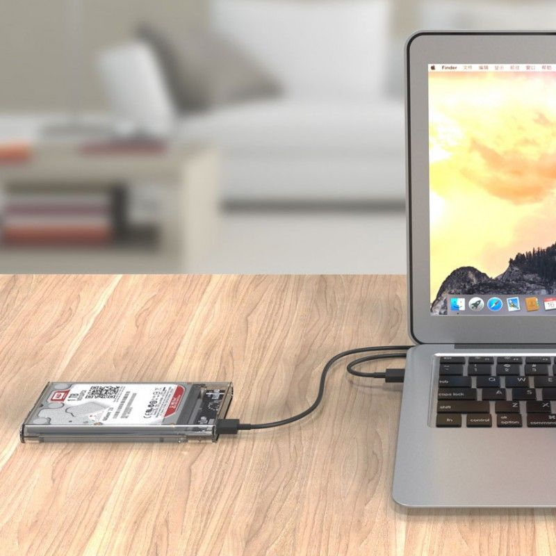 "Case USB 3.0 Transparente para HD Sata de 2,5"" Exbom ECASE-300"