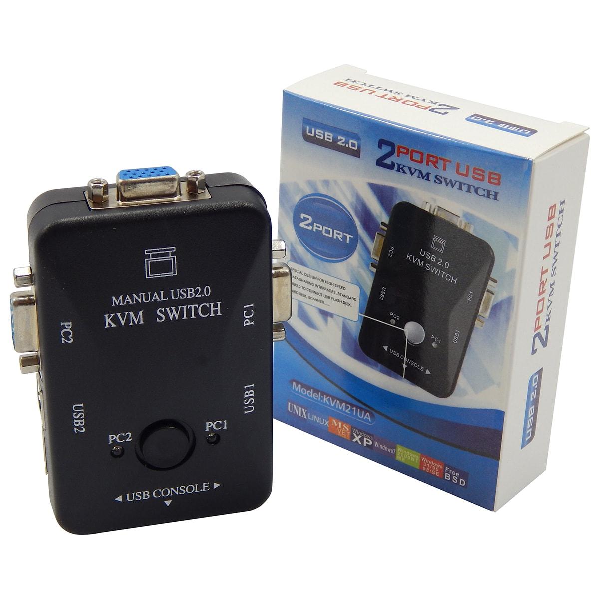 Chaveador Switch KVM 2 Portas USB KVM21UA