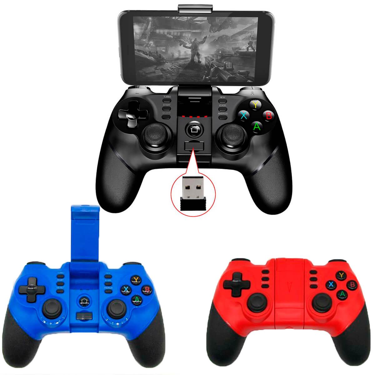 Controle Bluetooth e Wireless Ipega/Knup 9076 para Celular Tablet PC PS3
