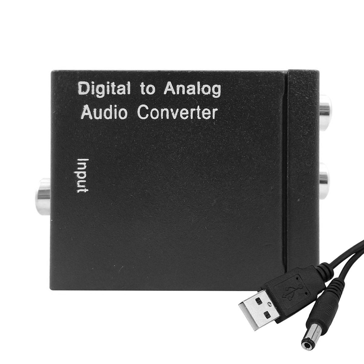 Conversor de Áudio Digital Óptico e Coaxial para Analógico Rca + Cabo USB DC