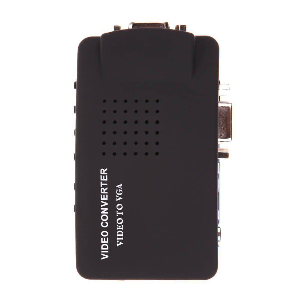 Conversor de Vídeo AV Rca e S-Video para VGA Knup KP-3462