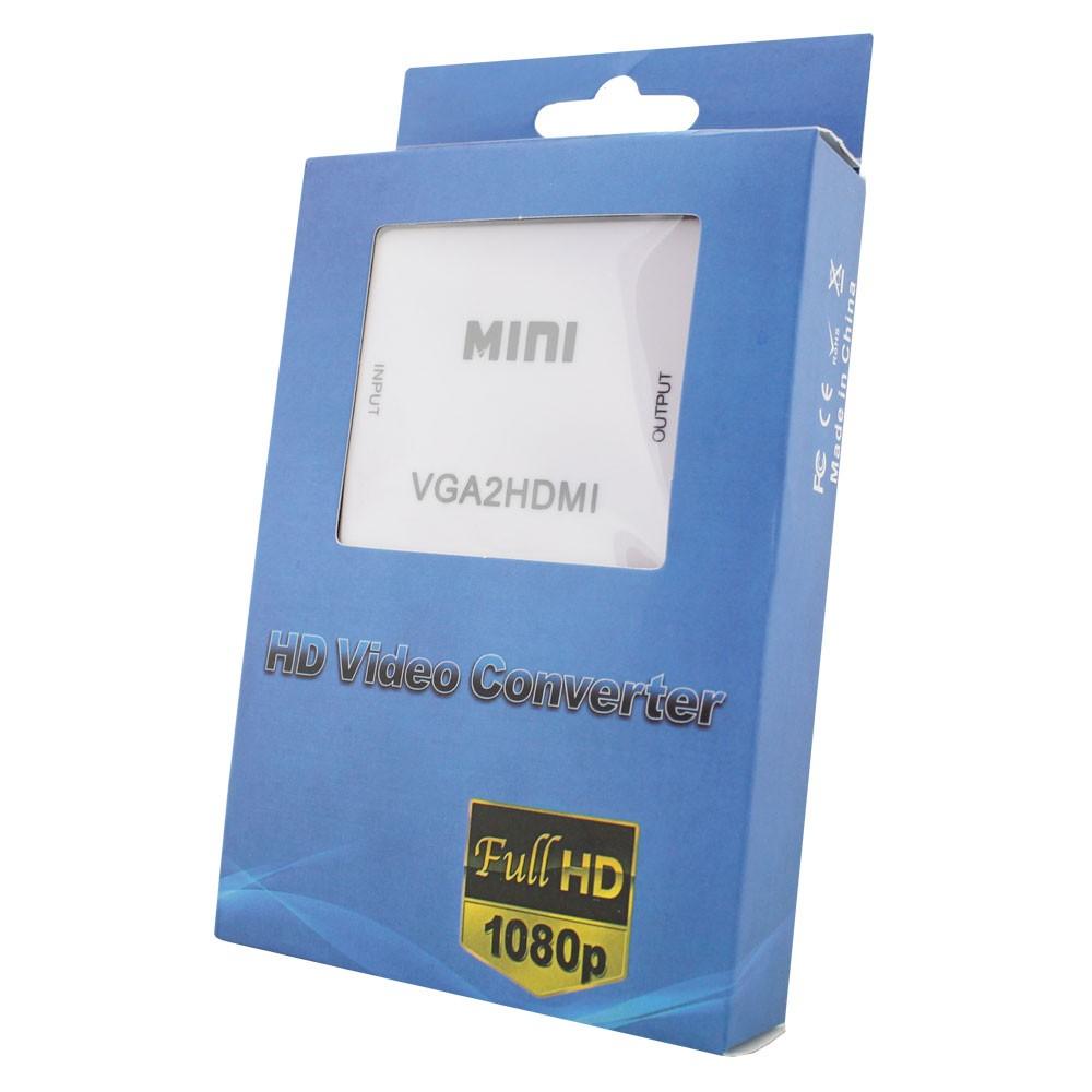 Conversor VGA c/ Audio P2 p/ Hdmi VGA2HDMI