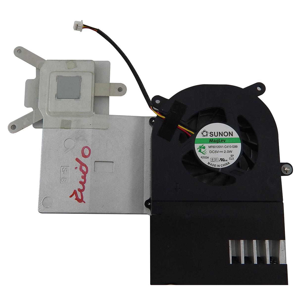 Cooler Fan com Dissipador para Notebook Pn: MF60120V1-C410-G99 / 49R-3C14E0-1401