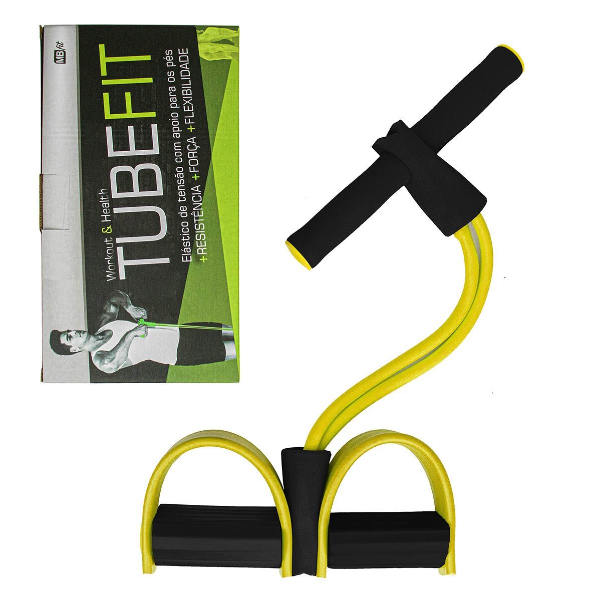 Elástico de Tensão para Exercícios com Apoio de Pés Academia Tubefit MBfit MB87116