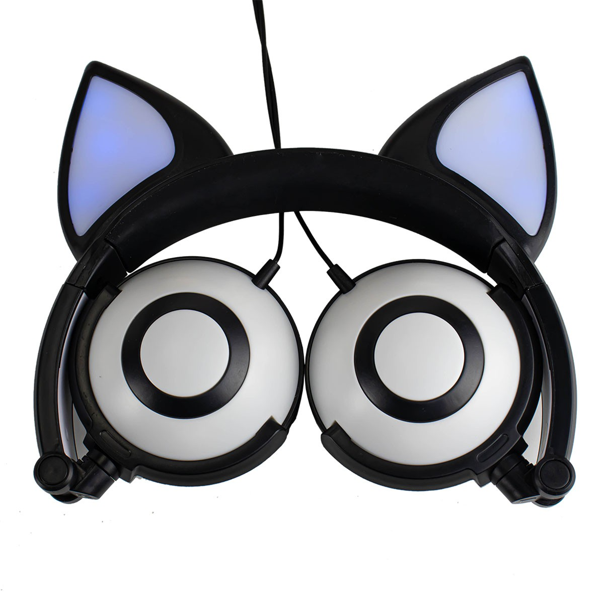 Fone de Gatinho Tipo P2 Headphone Orelha de Gato com LED Exbom HF-C30