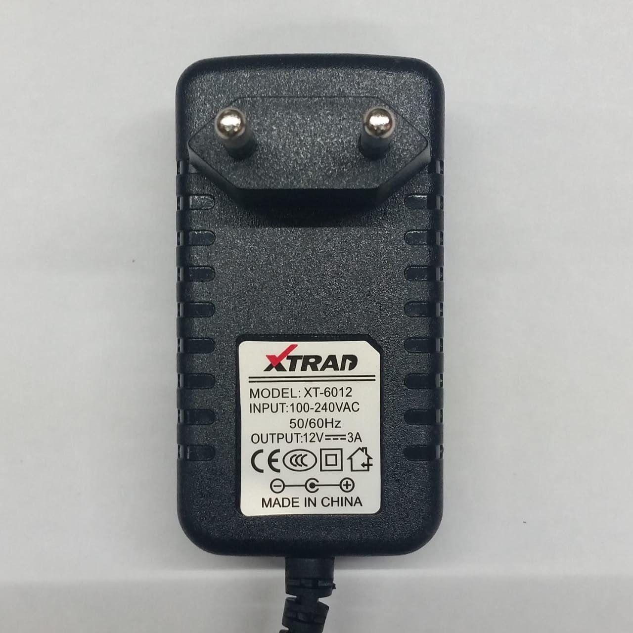 Fonte Chaveada 12v 3a Plug P4 5,5x2,5mm Bivolt Xtrad XT-6012