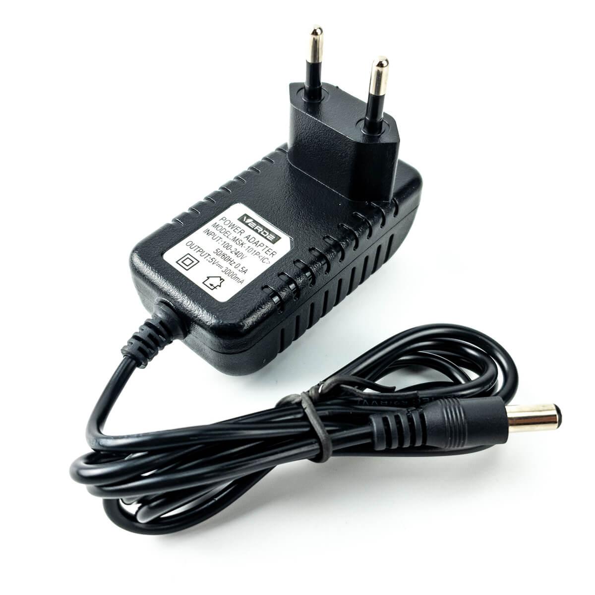 Fonte Chaveada 5V 1A Plug P4 5,5 x 2,5 mm Bivolt Verde MSK-101P