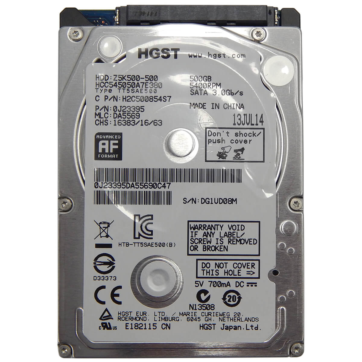 HD p/ Notebook 500Gb Sata 3.0Gb/s 5400rpm HGST Z5K500-500 - Novo