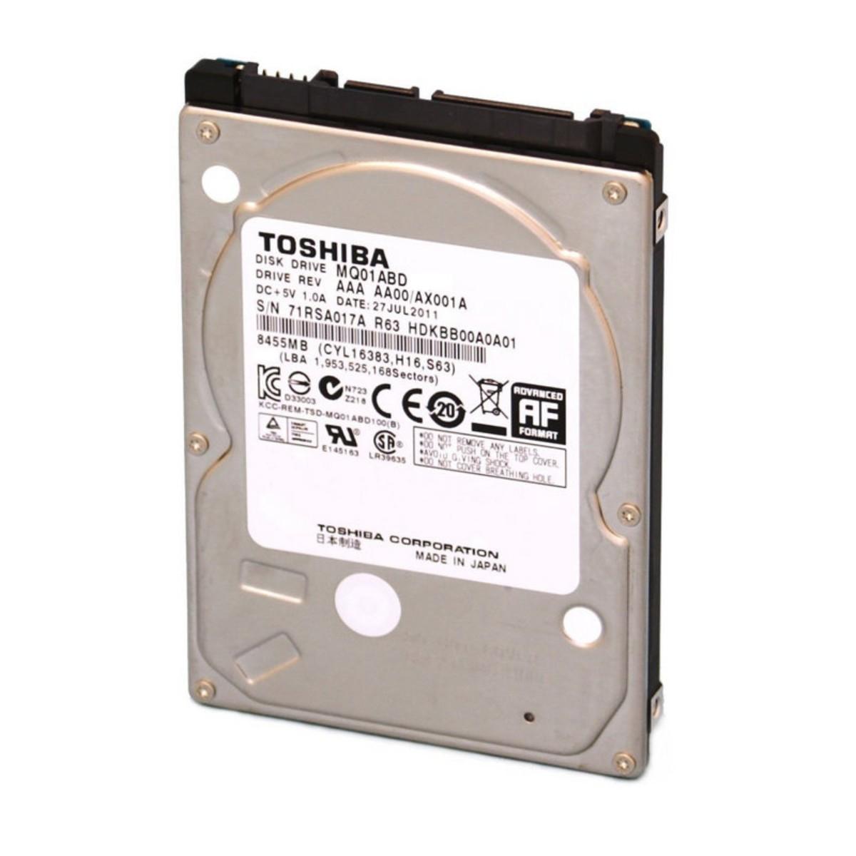 HD p/ Notebook 500Gb Sata 3.0Gb/s 5400rpm Toshiba MQ01ABD050V - Novo