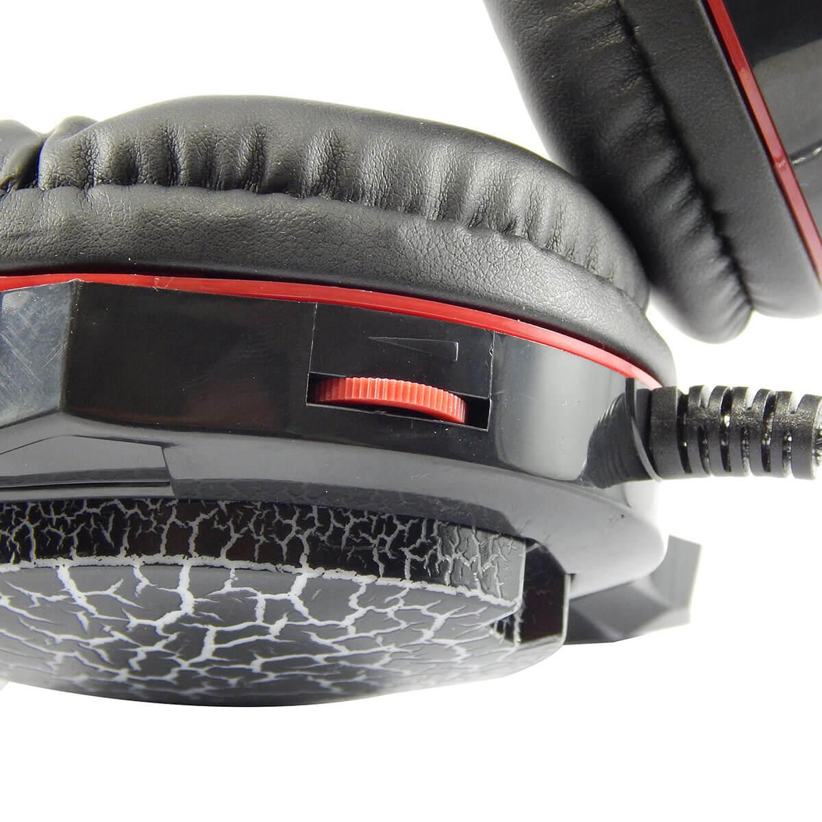Headset Gamer com Microfone e Led Colorido Exbom GH-X10 com Adaptador P3 x P2