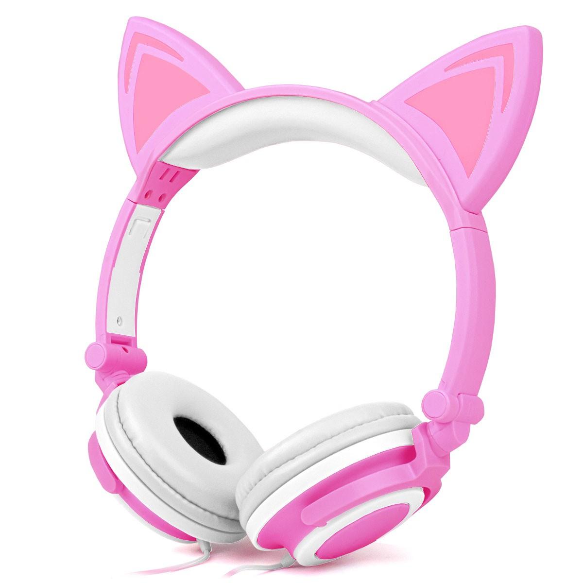 Headphone Orelhas de Gato P2 com Led Exbom HF-C22