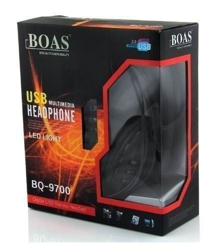 Headphone Usb Digital Estéreo com Microfone Boas BQ9700