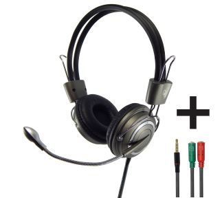 Headset com Microfone Infokit HM-650MV com Adaptador P3 x P2