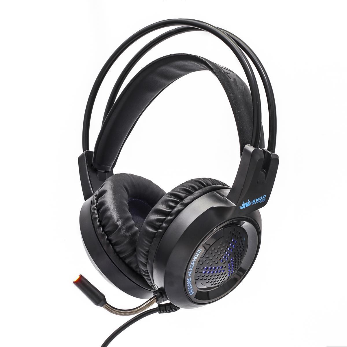 Headset Gamer com Microfone e LEDs Knup KP-430