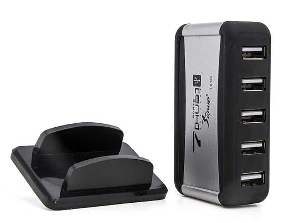 Hub USB 2.0 7 Portas c/ Fonte Knup HB-T68